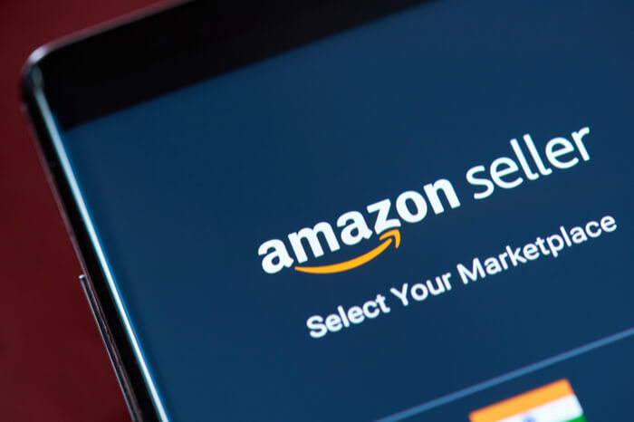Amazon Seller auf Smartphone-Display