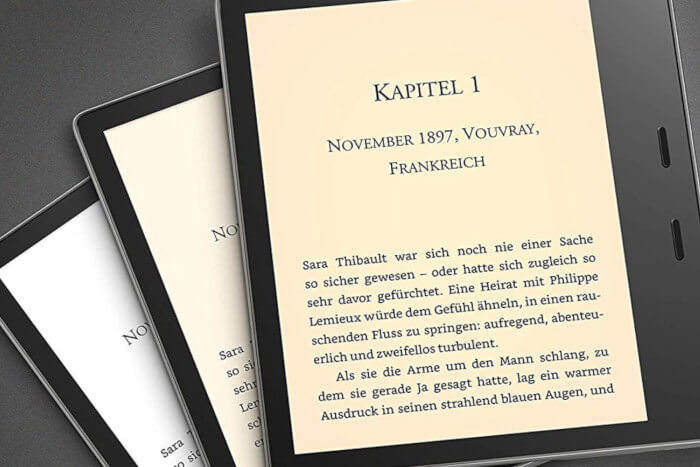 Amazon, Screenshot des neuen Kindle Oasis