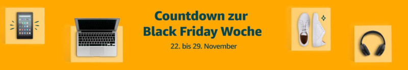 Amazon-Banner zur Black Friday Woche
