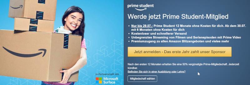 amazon prime video für studenten kostenlos
