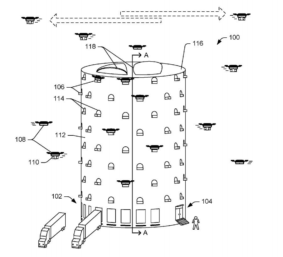 Patent für Drohnen-Turm von Amazon