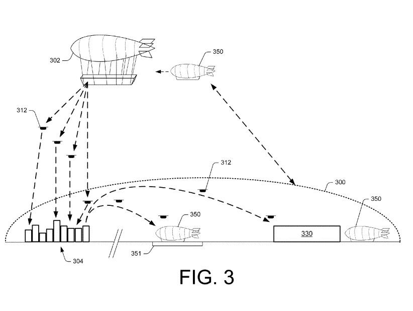 Patent für Drohnen-Zeppelin von Amazon