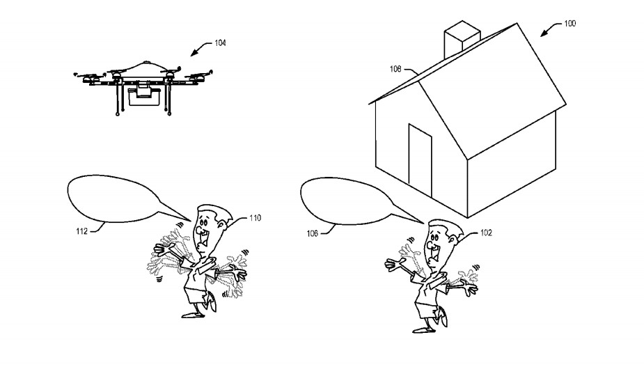 Patent einer Drohne von Amazon