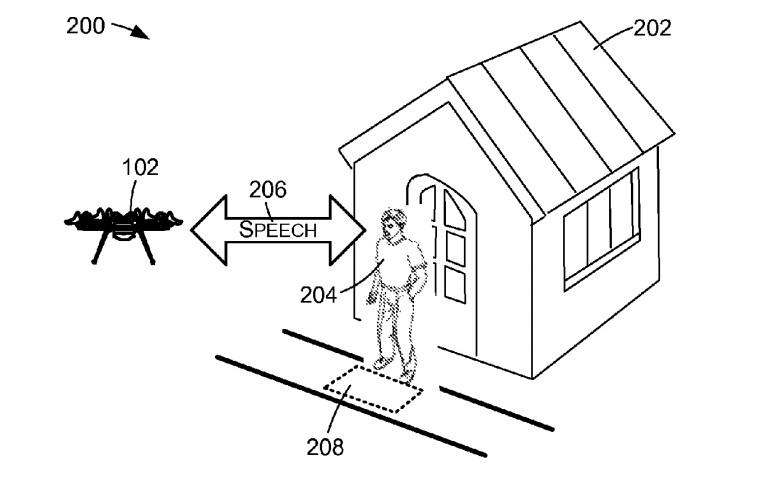Patent für sprechende Drohne von Amazon