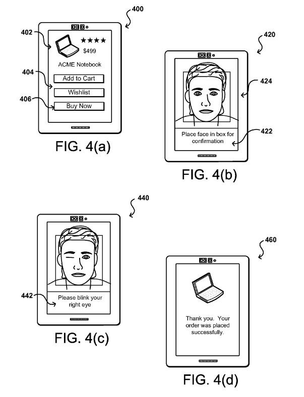 Patent für Zahlen per Zwinkern von Amazon