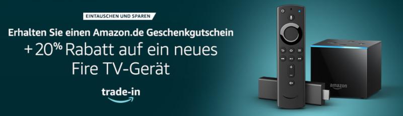 Amazon: Screenshot eines Banners zum Trade-In-Service