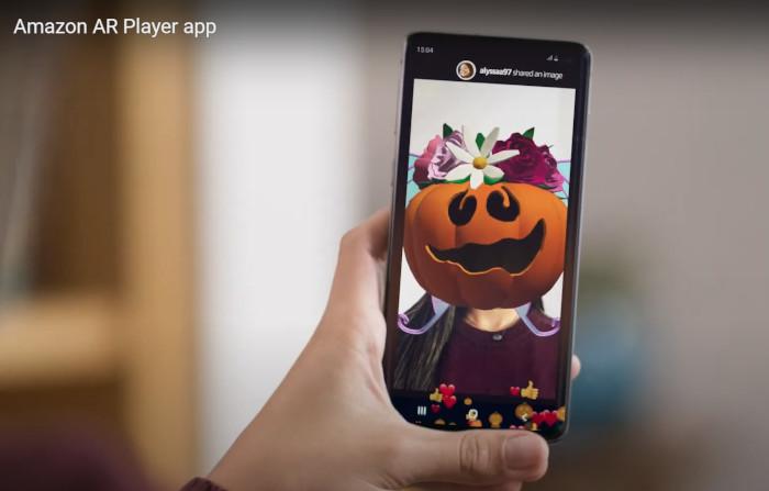 Amazon, Screenshot App - Kopf verwandelt sich in Kürbis