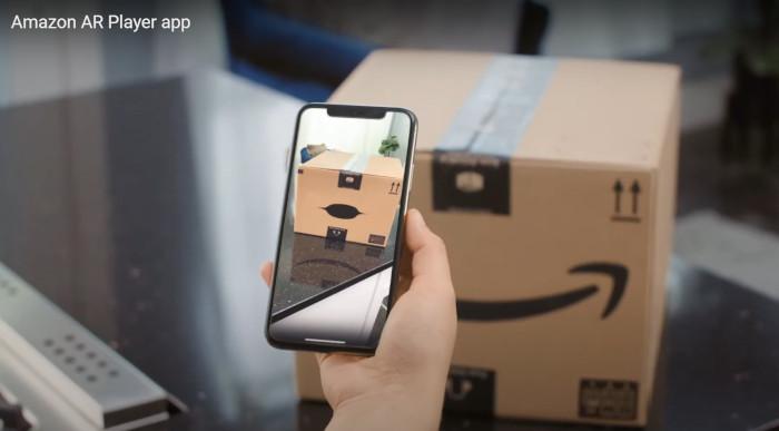 Amazon, Screenshot der App - Amazon-Paket spricht