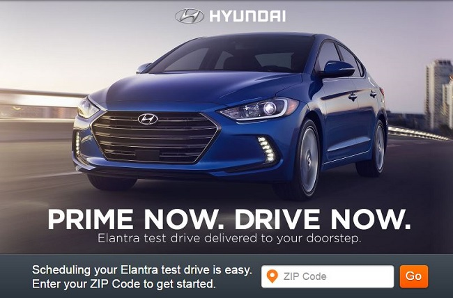 Prime Now. Drive Now.-Homepage