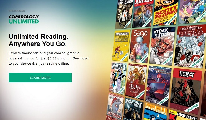 Comixology Unlimited-Homepage