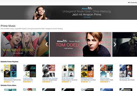 Amazon Prime Music Screenshot