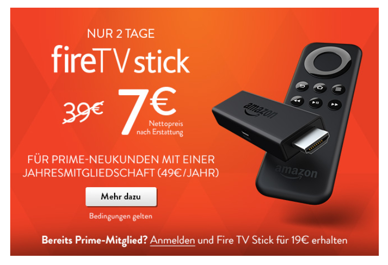 Screenshot Werbung Amazon Fire TV Stick