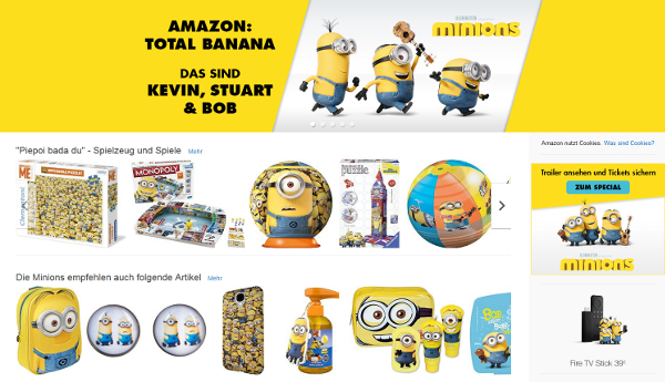 Screenshot: Minions auf Amazon