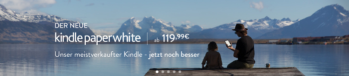 Screenshot: Banner – der neue Kindle Paperwhite von Amazon