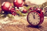 Weihnachtliche Uhr