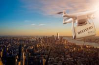 Drohne über Stadt