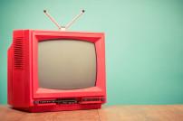 Retro-Fernseher in Rot
