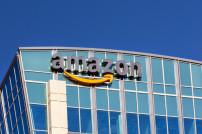 Amazon-Hauptquartier in Seattle: Unternehmenslogo an Häuserfront