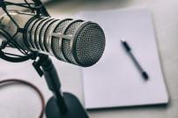 Podcast-Aufnahme