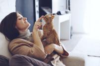 Lady mit Katze