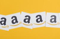 Amazon-Logo auf Papier