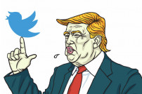 Illustration: Donald Trum und der Twitter-Vogel