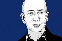 Zeichnung von Amazon-Gründer Jeff Bezos