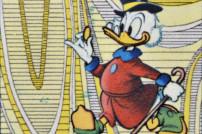 Reiche Ente: Dagobert Duck auf einer Briefmarke, Ausschnitt