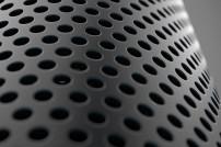 Detailaufnahme eines Echo-Lautsprechers