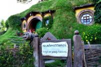 Bilbo Baggins, No Admittance Schild