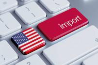 Tastatur mit USA-Flagge