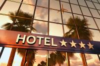Fassade eines Hotels