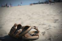 Sandalen im Sand