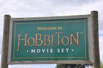 Dreharbeiten-Schild Hobbiton