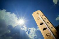 Thermoeter zeigt Hitze