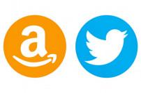 Twitter Amazon Logos