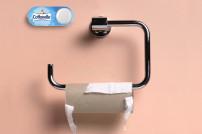 Amazons Dash-Button neben einer leeren Klopapier-Rolle