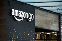 Filiale eine Amazon Go-Supermarktes