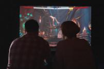 Menschen spielen Computergame