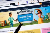 Amazon-Seite mit Lupe auf Prime Day