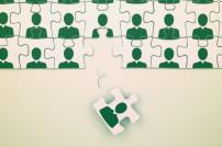 Puzzle mit Arbeitnehmer wird entfernt