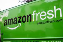 Amazon Fresh Schriftzug auf LKW