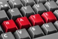 Hate auf Tastatur