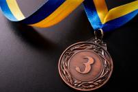 Bronze-Medaille auf dunklem Grund