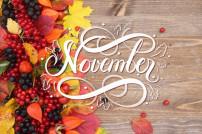 November mit Blättern