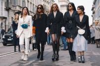 Modische Frauen auf der Straße