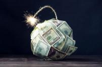Bombe aus Geldscheinen