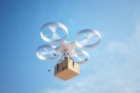 Drohne mit Paket