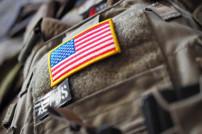 Militär: Flagge der USA auf einer US-Uniform