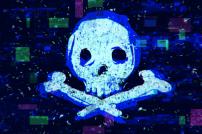 Digitaler Totenkopf als Zeichen für Produktfälschungen